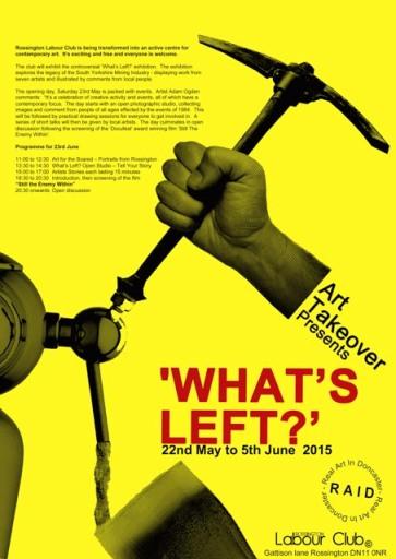 Exhibition & talk next week in Rossington....