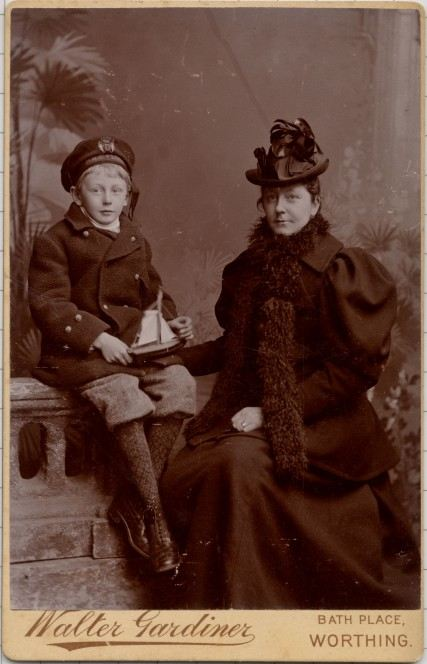 Lady Isabella of Cusworth and son Robert c 1910